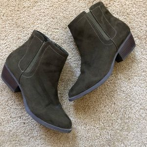 Merona Green Suede Ankle Boots